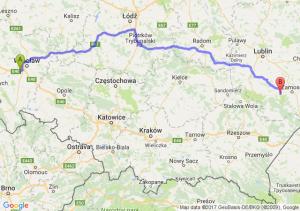Trasa Biskupice Podgórne - Szczebrzeszyn