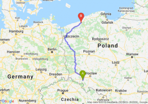 Trasa Świebodzice - Koszalin