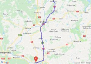 Trasa Kwidzyn - Toruń