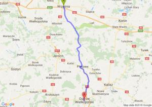 Trasa Września - Ostrów Wielkopolski