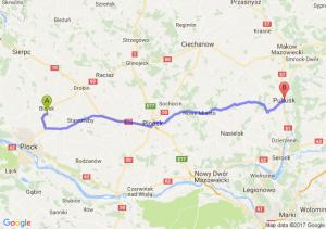 Trasa Bielsk - Pułtusk