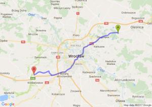 Trasa Borowa - Kąty Wrocławskie