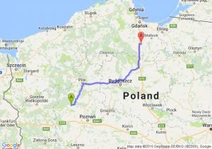 Wronki (wielkopolskie) - Pelplin (pomorskie)