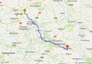 Trasa Brzeziny - Ostrowiec Świętokrzyski
