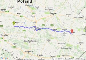 Trasa Ostrów Wielkopolski - Lublin