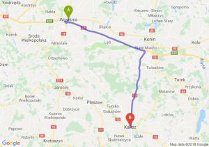 Trasa Września - Kalisz