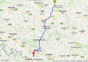 Trasa Płońsk - Żory