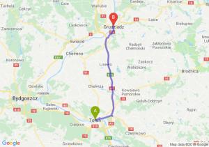 Trasa Toruń - Grudziądz