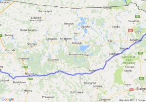 Nowe Miasto Lubawskie (warmińsko-mazurskie) - Sejny (podlaskie)