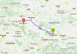 Trasa Katowice - Świebodzice