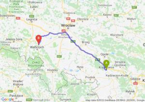 Trasa Krapkowice - Świebodzice