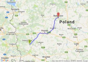 Trasa Nowa Sól - Bydgoszcz