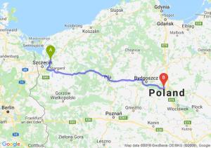 Trasa Goleniów - Toruń