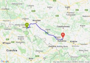 Trasa Wałbrzych - Sosnowiec