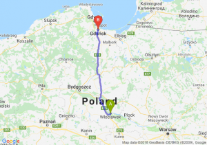 Trasa Włocławek - Gdańsk