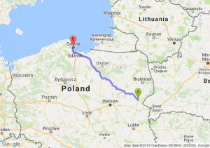 Trasa Siemiatycze - Gdynia