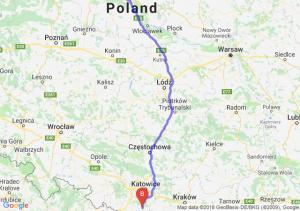 Trasa Toruń - Pszczyna
