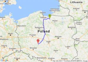 Trasa Pasłęk - Ostrów Wielkopolski
