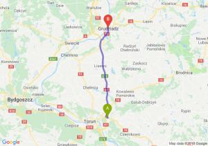 Trasa Lubicz Dolny - Grudziądz