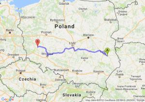 Trasa Piaski - Głogów