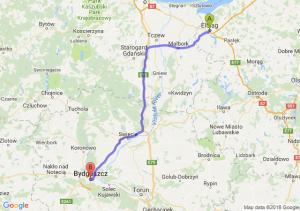 Trasa Elbląg - Bydgoszcz