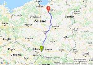 Trasa Pszczyna - Ostróda