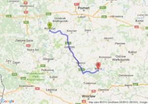 Wolsztyn (wielkopolskie) - Milicz (dolnośląskie)