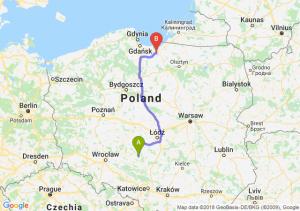 Trasa Wieluń - Elbląg