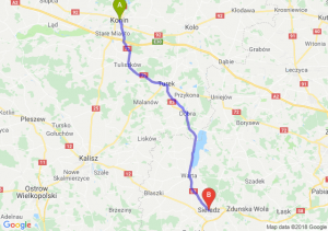 Trasa Konin - Sieradz