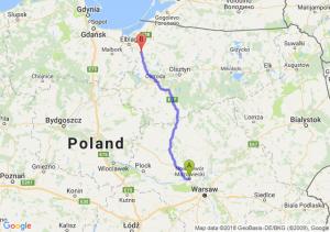 Trasa Nowy Dwór Mazowiecki - Pasłęk