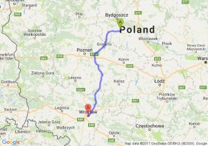 Złotniki Kujawskie - Wrocław