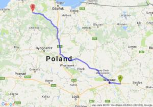 Trasa Choszczówka Stojecka - Bytów