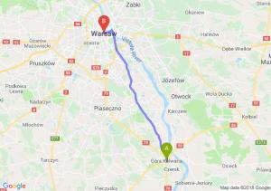 Trasa Góra Kalwaria - Warszawa