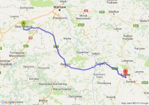 Skierniewice (łódzkie) - Lublin (lubelskie)
