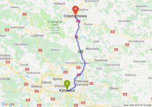 Trasa Katowice - Częstochowa