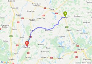 Trasa Pasłęk - Kwidzyn