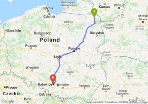 Trasa Suwałki - Katowice
