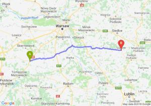 Trasa Rawa Mazowiecka - Łuków