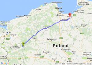 Trasa Drezdenko - Elbląg