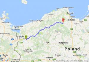 Trasa Stargard Szczeciński - Kościerzyna