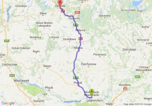 Trasa Nowy Dwór Mazowiecki - Ostróda