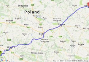 Boguszów-Gorce (dolnośląskie) - Białystok (podlaskie)