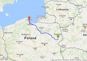 Trasa Bielsk Podlaski - Gdynia