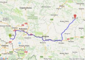 Radlin (śląskie) - Staszów (świętokrzyskie)