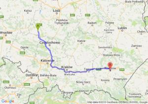 Trasa Wieluń - Rzeszów