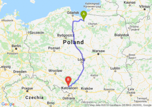 Trasa Pasłęk - Kędzierzyn-Koźle