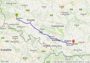 Trasa Chojnów - Łapczyca