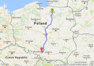 Olsztyn (warmińsko-mazurskie) - Mikołów (śląskie)