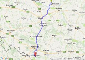 Trasa Płońsk - Bielsko-Biała