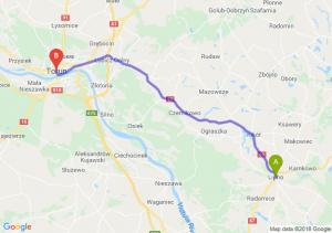 Trasa Lipno - Toruń